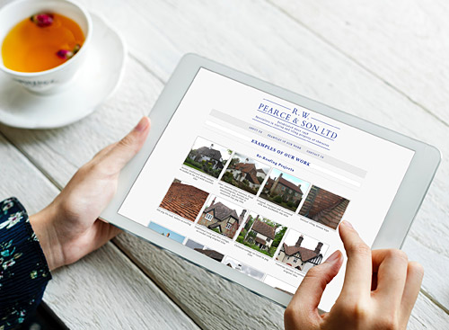 Bespoke Website Design - R W Pearce and Son