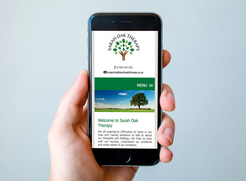 Bespoke Website Design - Sarah Oak Therapy