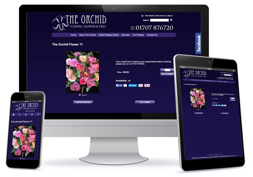 Ecommerce Wesbite - The Orchid Flower
