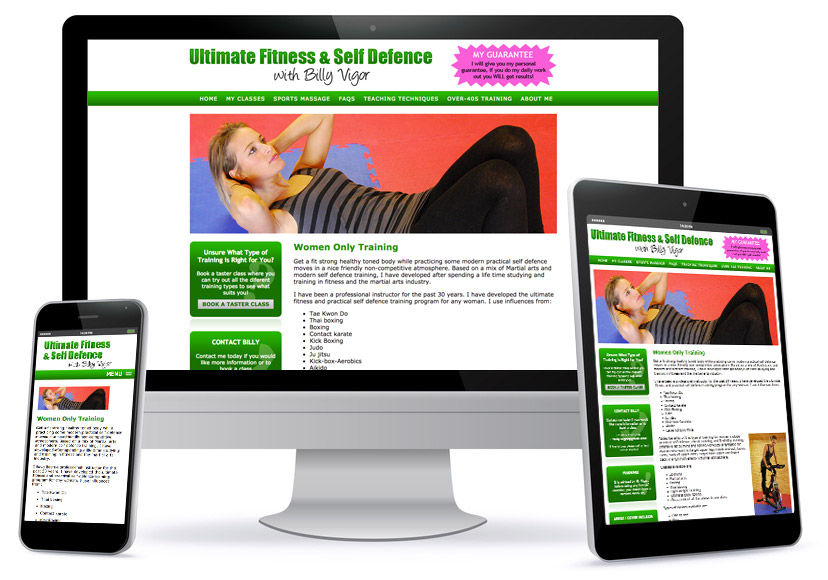 Bespoke Wesbite Design - Ultimate Fitness - Billy Vigor