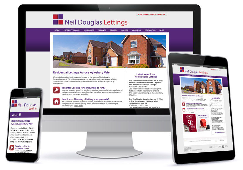 Bespoke Wesbite Design - Neil Douglas Lettings