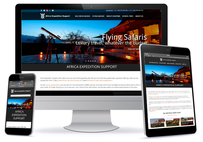 Wordpress Wesbite Design - Africa Expedition Support