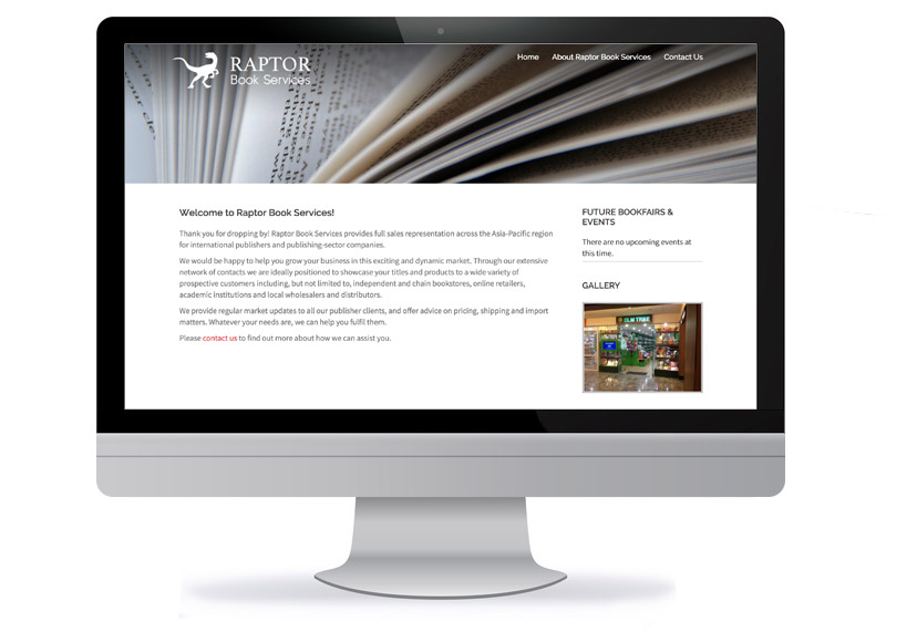 Wordpress Wesbite Design - Raptor Book Services